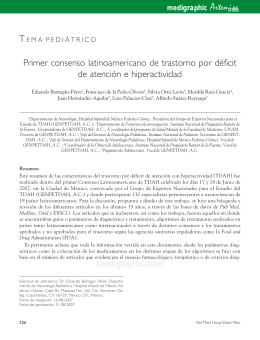 Primer consenso latinoamericano de trastorno por déficit