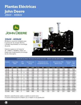 Plantas Eléctricas John Deere