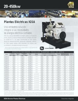 Plantas Electricas IGSA 20-450kw