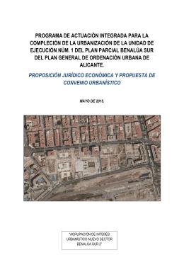 Proposición Jurídico Económica y propuesta Convenio Urbanístico