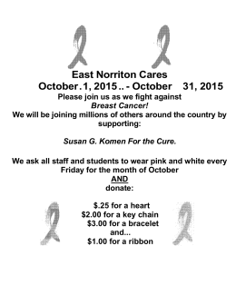 East Norriton Cares October . 1, 2015 ..