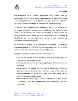 UNIVERSIDAD DE CUENCA Facultad de Ciencias Económicas y