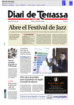 Abre el Festival de Jazz - El Blog de BancoSabadell