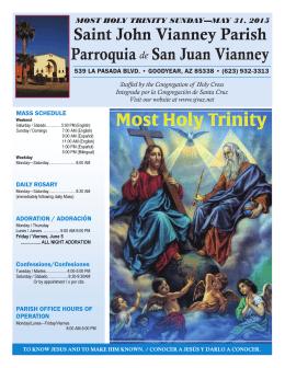 Saint John Vianney Parish Parroquia San Juan