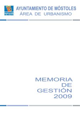 AYUNTAMIENTO DE MÓSTOLES MEMORIA DE GESTIÓN
