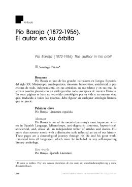 Pío Baroja (1872-1956). El autor en su órbita
