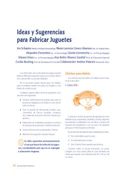 Ideas y Sugerencias para Fabricar Juguetes