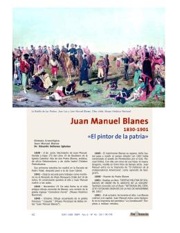 """Juan Manuel Blanes """"El pintor de la patria""""."""