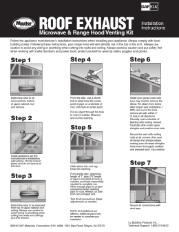 Master Flow Roof Exhaust Application Instructions