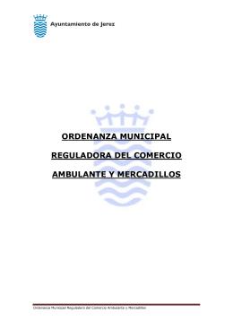 Ordenanza Municipal Reguladora del Comercio Ambulante y