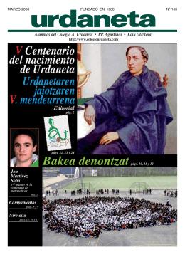 Alumnos del Colegio A. Urdaneta • PP. Agustinos • Loiu (Bizkaia