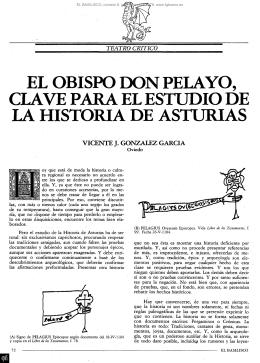 el obispo don pelayo, clave para el estudio de la historia de asturias