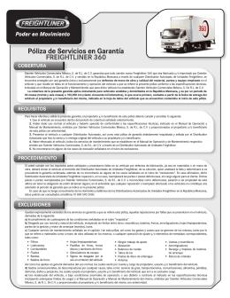 Póliza de Servicios en Garantía FREIGHTLINER 360