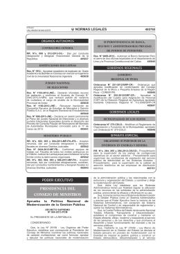 D.S. 004-2013-PCM - SGP - Presidencia del Consejo de Ministros