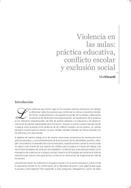 Violencia en las aulas: práctica educativa, conflicto escolar y