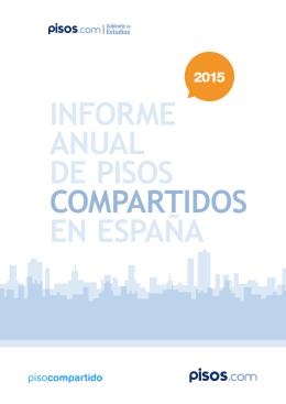Informe anual de pisos compartidos en España