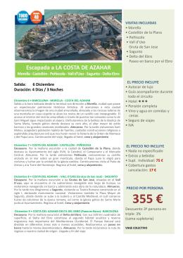 355 € - Viatges Berga