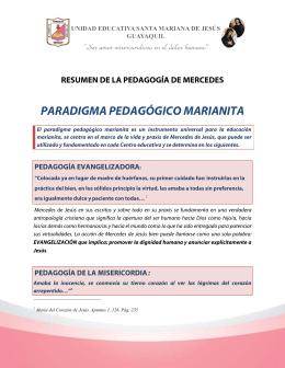 Pedagogía Marianita - Unidad Educativa Santa Mariana de Jesús