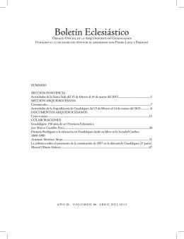Boletín Eclesiástico - Arquidiócesis de Guadalajara