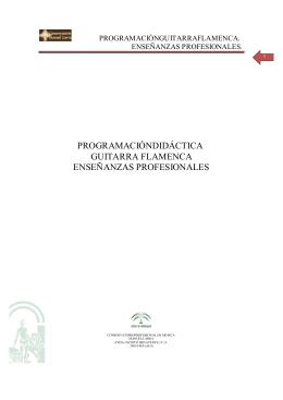 Guitarra Flamenca EE.PP. - Conservatorio Manuel Carra