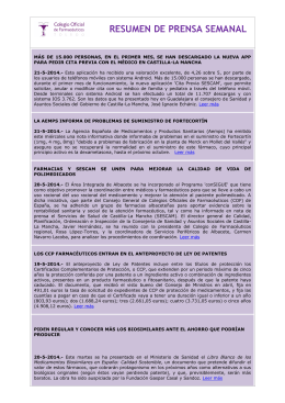 documento complementario - Colegio Oficial de Farmacéuticos de