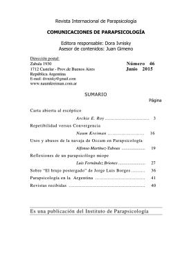 Nº 46, Junio 2015. - Instituto de Parapsicología