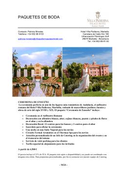 VP Paquetes de Boda - Hotel Villa Padierna