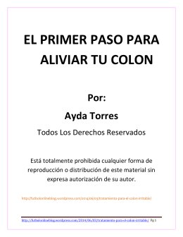 No Mas Colon Irritable