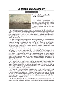 El palacio de Lecumberri - Repositorio Digital, Académica