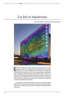 Los led en arquitectura