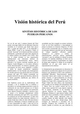 Visión histórica del Perú - Partido Político CONSTRUCTORES PERU