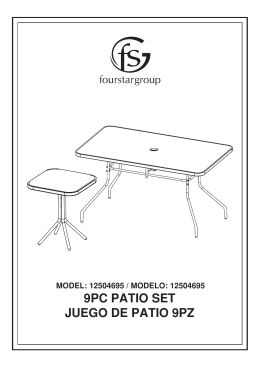 9pc patio set juego de patio 9pz - Fourstar Group Customer Support