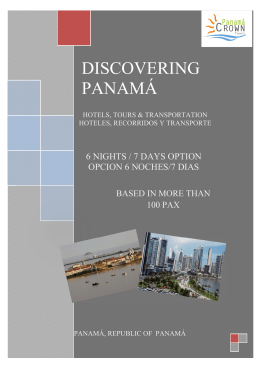 PANAMA - Your destination for GROUPS
