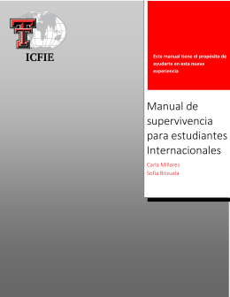 Manual de supervivencia para estudiantes Internacionales