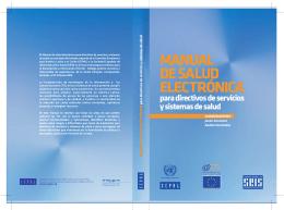 Manual de salud electrónica - Repositorio CEPAL