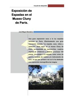 Exposición de Espadas en el Museo Cluny de Paris.