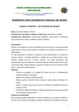 Sugerencia Carnavales Interculturales