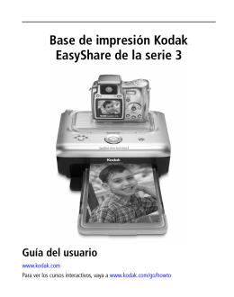 Base de impresión Kodak EasyShare de la serie 3