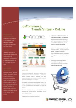 osCommerce, Tienda Virtual