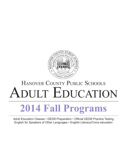 Adult Based Education GED & ESOL Classes