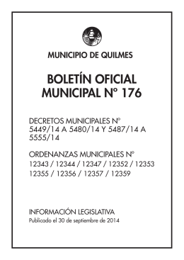 BOLETÍN OFICIAL MUNICIPAL Nº 176