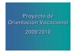 Presentación PowerPoint del Proyecto de Orientación Vocacional