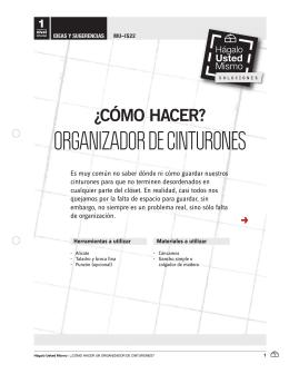 ORGANIZADOR DE CINTURONES