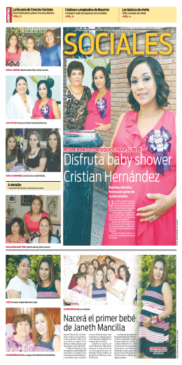 Disfruta baby shower Cristian Hernández