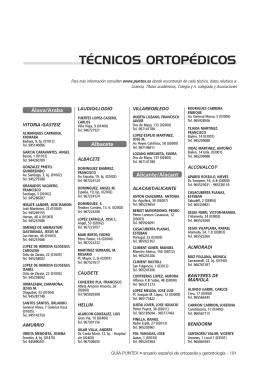 TÉCNICOS ORTOPÉDICOS