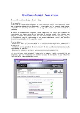 Simplificación Registral - Ayuda en Línea
