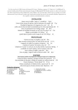 CARTA DE 7 MAYO - Restaurante Manolo