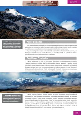 Andes Peruanos Cordilleras Principales