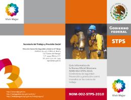 Guía NOM-002-STPS-2010 - Secretaría del Trabajo y Previsión Social