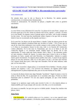 GUIA DE VIAJE MENORCA- Recomendaciones personales